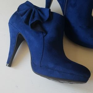Impo Shoes - Impo Suede booties Blue shoes